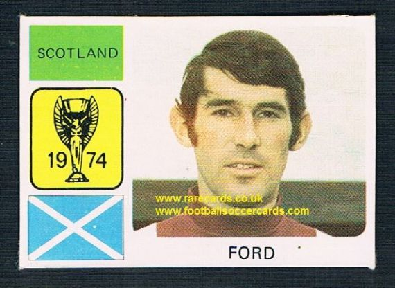 1974 Monty World Cup card Ford Hearts